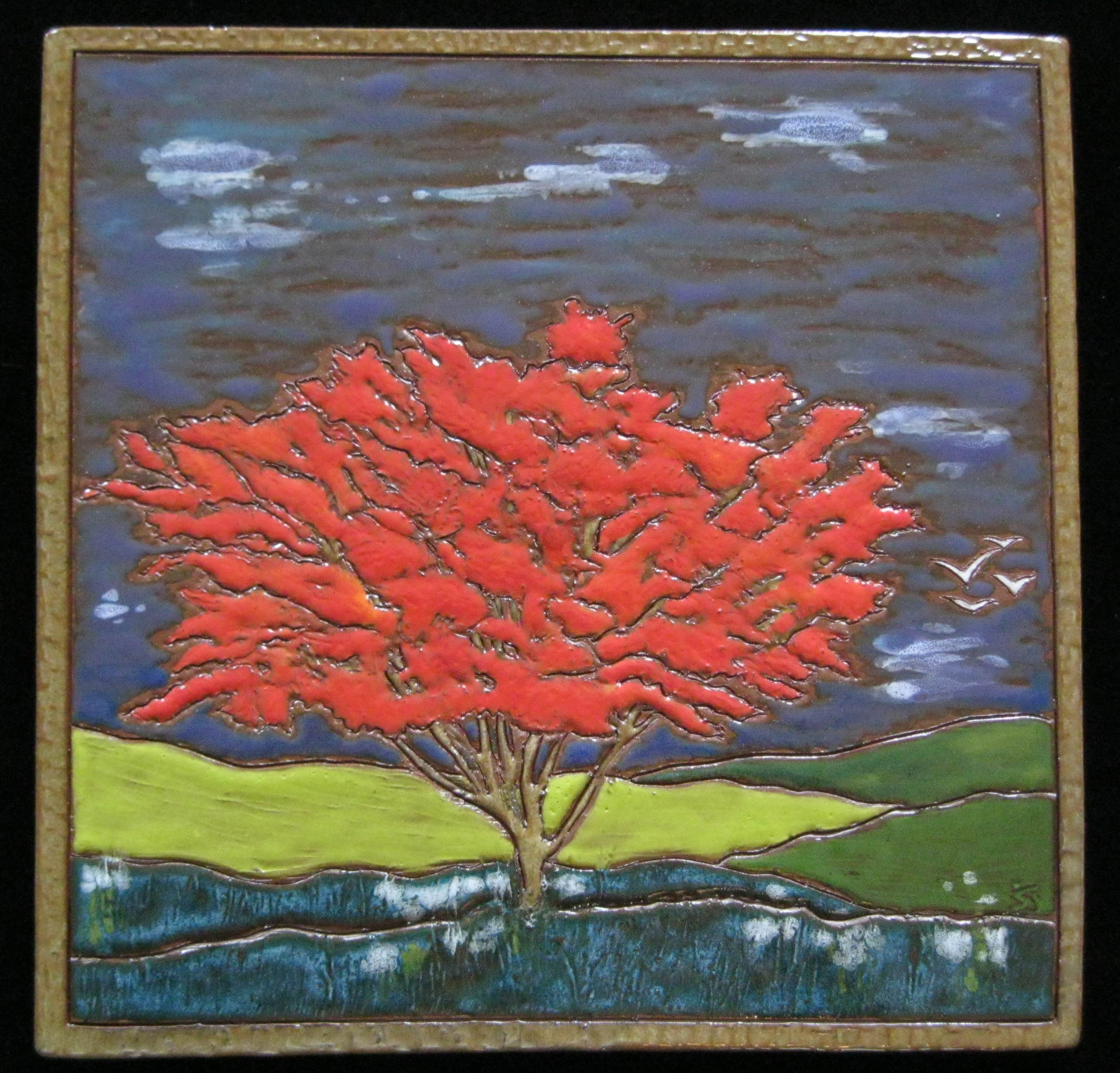 Red tree - fired - SOLD