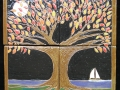 4-tile Night tree mural - SOLD