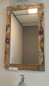 Ceramic tile mirror frame